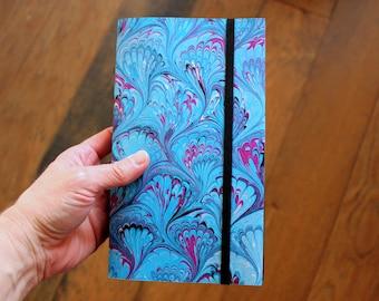 Moonlight Water Handmade Blank Book Journal Diary Notebook Sketchbook Hand Bound Marbled Unlined, Travel Journal, Art Journal, Graduation