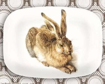 Rabbit serving melamine platter or plate