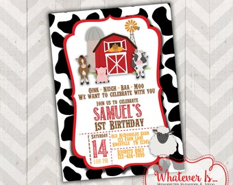 Barnyard Farm Birthday Printable Invitation