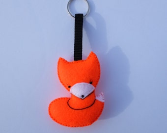 Cute fox keychain bag decor