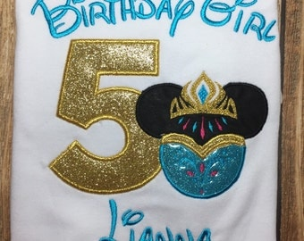 Girls disney vacation birthday elsa shirt