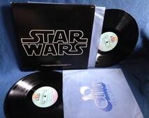 "RARE, Vintage, ""Star Wars"" John Williams, Original Film Score, Movie Soundtrack, Vinyl 2 LP Set, Record Album, Imperial March, A New Hope"