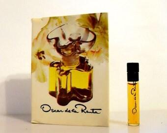 Vintage 1970s Oscar de la Renta Parfum Sample Vial on Card PERFUME