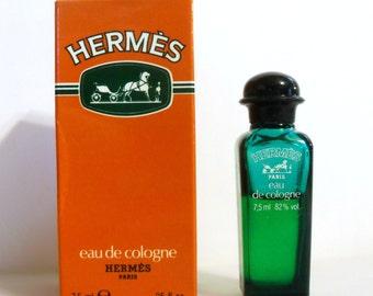 Vintage 1990s Hermes Eau de Cologne 0.25 oz Mini Miniature PERFUME