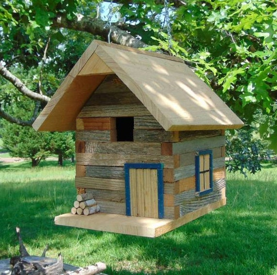 rustic log cabin birdhouses - photo #21