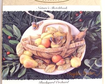 Hallmark Keepsake Showcase Ornament Nature's Sketchbook Series Backyard Orchard by Artist Marjolein Bastin