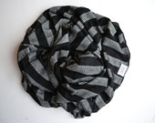 Black and white baby blanket. Stretchy swaddler style, swaddle wrap. Gender neutral/ unisex. Handmade in MN. Lippybrand