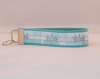 Keychain Wristlet Made With Princess Inspired Ribbon
