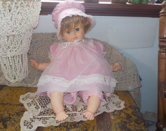 Big Vintage Horsman Baby Crier Doll 24 inches long :)  S