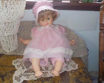 Horsman Baby Crier Doll, Big Vintage Horsman Baby Crier Doll, Horsman Doll, Vintage Baby Doll, 24 inches long Doll, Vintage Doll, Toys, :)s