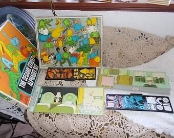 Colorforms Sesame Street Alphabet Set, Ernie and Bert Colorform, Vintage Children Games, Preschool Toy, Vintage Toys, Toys, /:)S