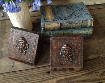 Antique English Book Ends Charming Country Gentleman Bookends