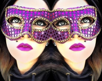 Purple Sequin Mask