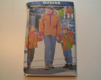 Butterick Pattern 5733 The Thread Bare Miss/Child My Family and Me Jacket