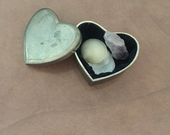 Pewter Heart Shaped Box