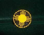 native sun pin , native american pin