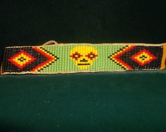 native american bracelet, skull bracelet