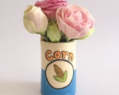 Handmade Ceramic Vase/Cup - Can of Corn