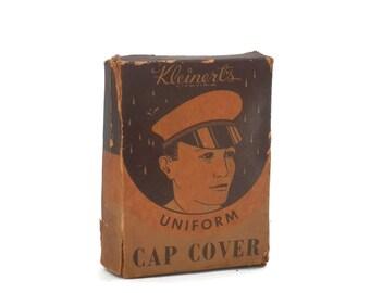 Military Uniform Cap Cover with Original Box  Kleinert's