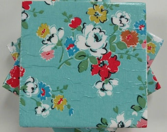 Coasters in Cath Kidston Clifton Rose in Blue