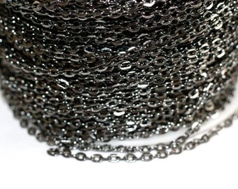 42ft Gun Metal Chain- Cable Chain links 4x2.7mm unsoldered