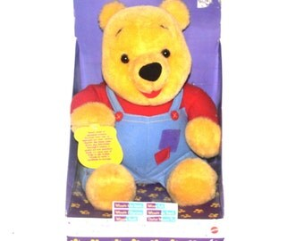 Vintage 1990s Hug N Wiggle Pooh Plush, Antique Alchemy