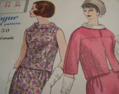 Vintage 1960's Vogue 4211 Special Design Suit and Blouse Sewing Pattern, Size 14, Bust 34