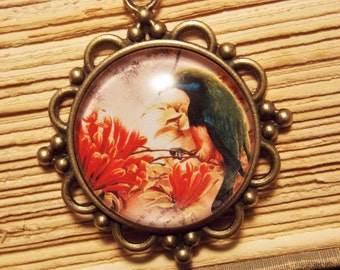 Vintage Inspired Kingfisher Pendant