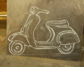 Custom Order *First Installment * VESPA * Rustic Weathervane ~  N/S/E/W Directions - Hand Forged Pieces -USA Made - Built to Last