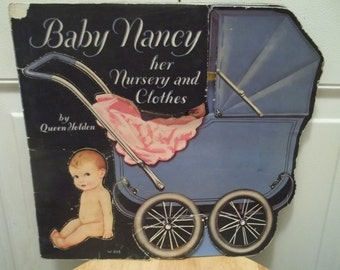 Vintage 1931 Baby Nancy her Nursery and Clothes ORIGINAL UNCUT