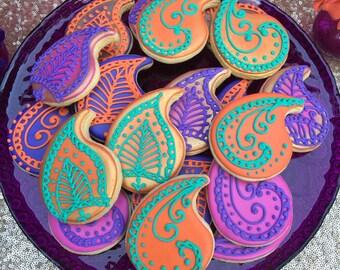 Mehndi Henna Paisley Cookies