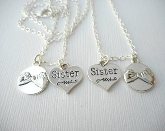 2 Pinky Promise, Sister- Best Friend Necklaces/ Big Sis Lil Sis, Sister Jewelry, Sister Necklace, Sister Gift, Sorority Sister, College