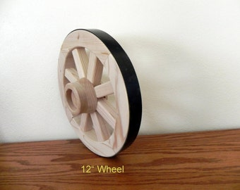 12 inch Wood Wagon Wheel