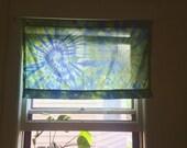 Tie dye valence curtains