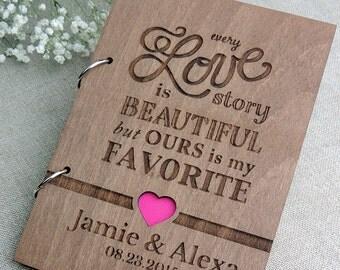 Rustic Wedding Guest Book ,Custom Wedding Guest Book, Wooden Wedding Guest Book, Rustic Guestbook, Laser Engraved Guestbook, Love guestbook