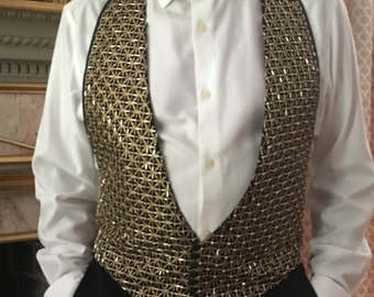Jeweled & Beaded Tuxedo Vest #1