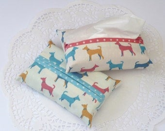 Fabric Pocket Tissue Holder - NEW