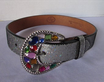 Small Belt Bling and Glitzy all leather size 20