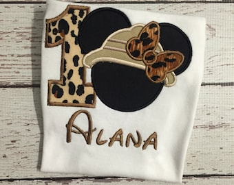 Minnie Safari Birthday Shirt
