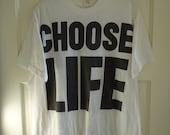 Vintage 80s WHAM CHOOSE Life T Shirt sz M/L