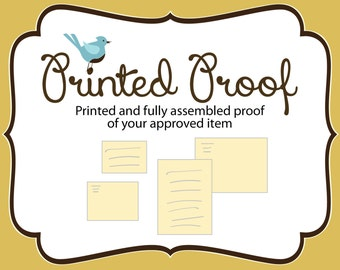 PRINTED PROOF - of your approved item
