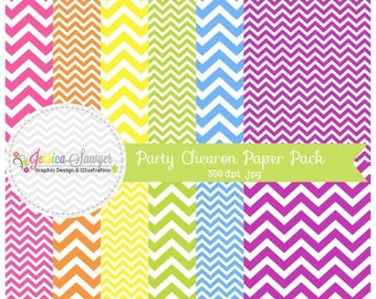 80% OFF - INSTANT DOWNLOAD - chevron digital paper pack, zig zag background, chevron printable papers for inviations, web design, scrapbook
