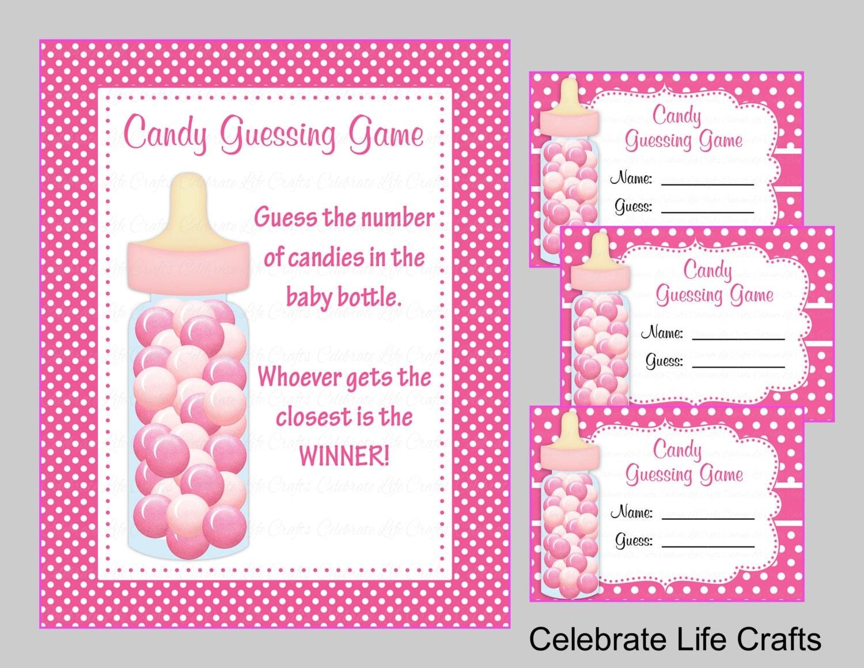 baby shower printable game candy jar or bottle guessing game. Black Bedroom Furniture Sets. Home Design Ideas