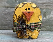 Easter Chick, Easter Decor, Spring Decor, Primitive Spring, Spring Chick, Shelf Sitter, Rustic Spring, Yellow Spring, Wood Chick