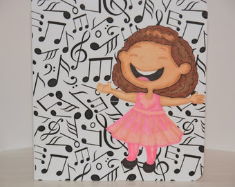 Happy Birthday Music Greeting Card