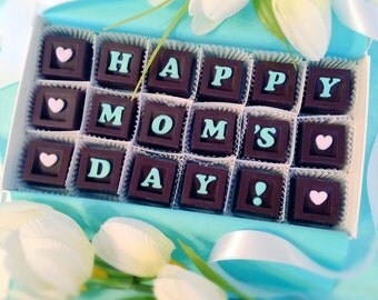 Happy Mom's Day Chocolates - Mother's Day Gift - Unique Chocolate Gift