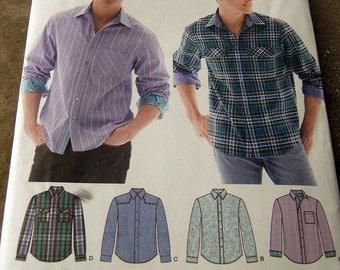 Simplicity 1544 uncut mens shirt size 34 - 42