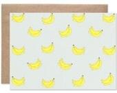 Banana Print Blank Folding Card