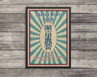 Fallout Poster | Galaxy News Radio poster | Vintage look print | Videogame art | GNR poster | geek gift