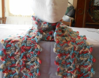 Blue Variety MEDIUM LACY SCARF to fit under your coat.